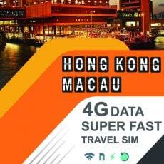 hong kong macau travel sim fast data card